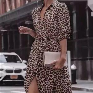 NWT Zara Animal Print Ling Dress